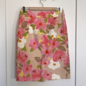 Stunning J Crew floral pencil skirt